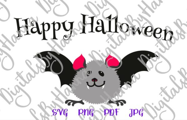 Cute Baby Bat Clipart My First Party Outfit Quote Saying Letter Print Tee Onesie Cut Sublimation