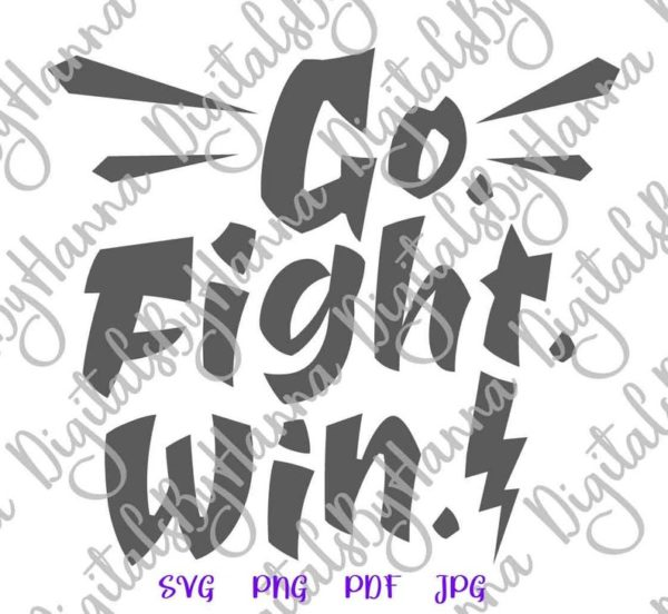 Go Fight Win Nursery Motivational Encourage Sport Quote Tee Mug Cup Wall