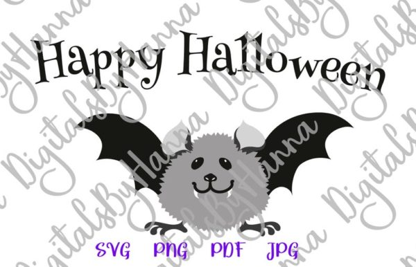 Halloween Cute Baby Bat Clipart My First Party Outfit Quote Saying Print Tee Onesie Cut Sublimation