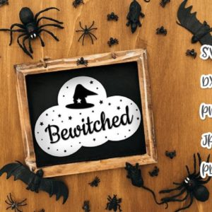 Halloween SVG Bewitched Witch Hat Clipart Invite Print Mug Cup Decoration Sublimation cut