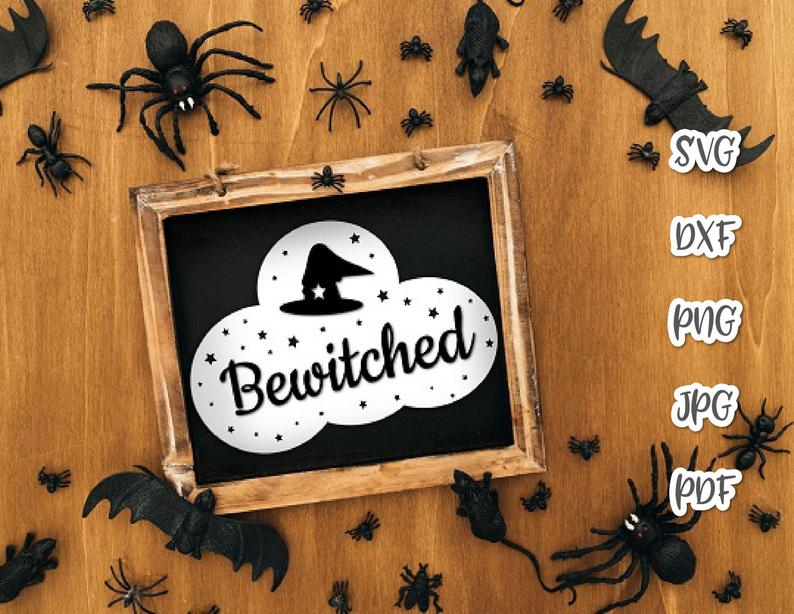 Halloween Friends Shirt Svg.Halloween Svg Bewitched Hat Clipart Invite Witch Print Tee Mug Cup Decoration Cut