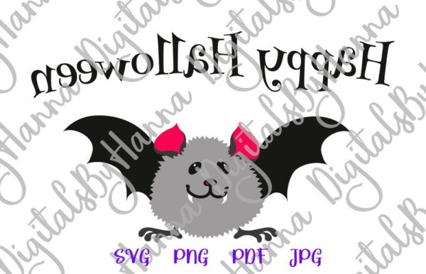 Happy Halloween Cute Baby Bat Clipart My First Party Outfit Quote Print Tee Onesie Cut Sublimation