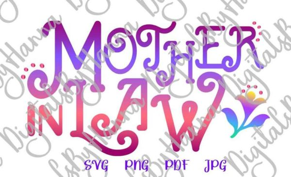 Mom life Mother in Law SVG Family Quote Mom life Hat Word Mug Cup Tumbler Sublimation