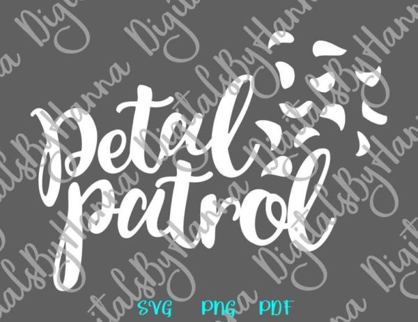 Petal Patrol Flower Girl Clipart Proposal Team Bride Cut Print Wedding Bridal Sublimation