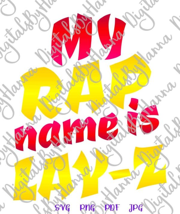 Sloth SVG My Rap Name is Lay-Z Funny Quote Lazy Gangsta Rapper Clipart Cut Print Sublimation
