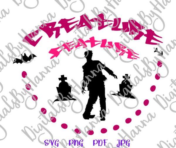 Creature Feature Zombie Clipart Walk Dead Print Cut Tee Outfit Bag Sublimation