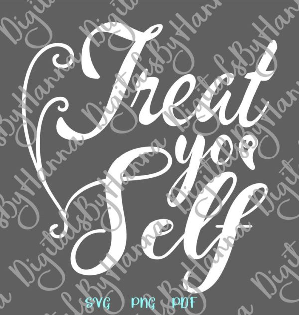 Halloween SVG Treat Yo' Self Funny Trick or Treat Clipart Print tee Tumbler tote Sign Sublimation