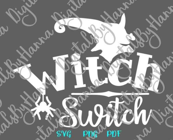 Halloween SVG Witch Switch Spider Head face Hat Print tee Tumbler Outfit Sublimation Sign