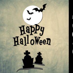 Happy Halloween Clipart Bats Moon Graves Party Outfit Decor Print Tee Tumbler Cup Mug Cut