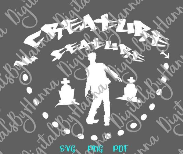 Happy Halloween SVG Creature Feature Zombie Clipart Walk Dead Print Cu Bag Sublimation