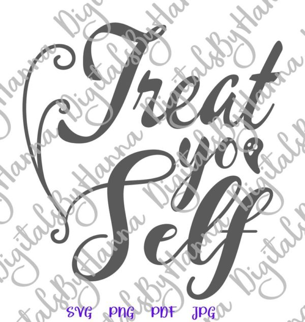 Happy Halloween SVG Files for Cricut Saying Treat Yo' Self Funny Trick or Treat Clipart