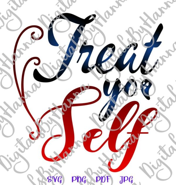 Happy Halloween SVG Treat Yo' Self Funny Trick or Treat Clipart Print tee Tumbler tote bag cut