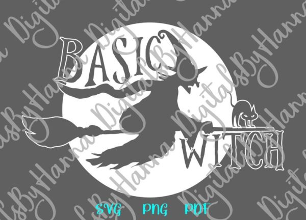 Happy Halloween SVG basic Witch Flying Broom Sublimation cut