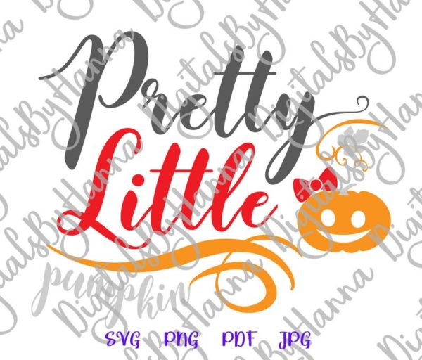 Pretty Little Pumpkin Clipart Print tee First Baby Outfit Girl Sublimation Sign