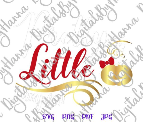 Pretty Little Pumpkin Clipart Word Print First Baby Outfit Girl Sublimation